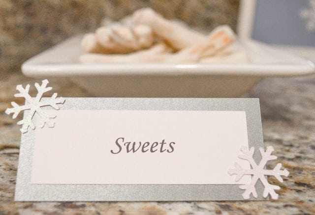 """White Christmas Party Ideas """"Sweet"""" food tent http://fantabulosity.com"""