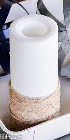 Nautical Candle DIY