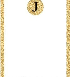Personalized Gold Glitter Stationary. YES PLEASE!