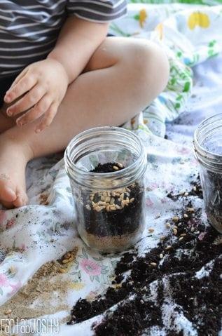 Toddler Activity-Growing Wheatgrass-8