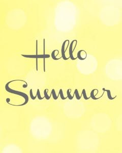 Hello Summer-Free printable