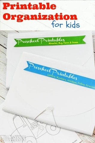 How to organize the printables for your kids! https://fantabulosity.com