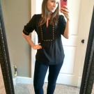 Stitchfix Fix 3 Review Black and Gold Shirt