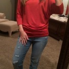 Stitchfix Review Love the orange top & COMFORTABLE jeans!