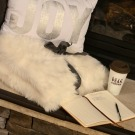 A Sip of Home, Cozy up by the fireplace with a Cup of Gold Peak Coffee http://fantabulosity.com