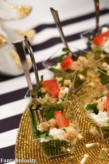 Favorite Things Party Ideas-Food Ideas, spinach & strawberry salad http://fantabulosity.com
