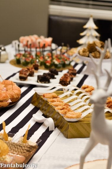 Food on table for Favorite Things Party