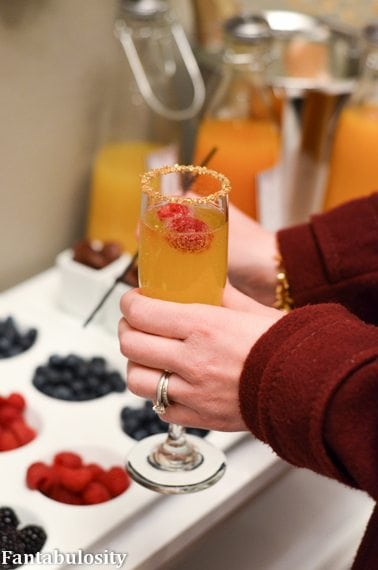 Favorite Things Party Ideas-Champagne Bar Garnishes https://fantabulosity.com