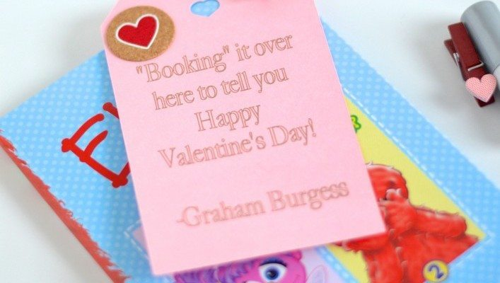 "Classroom Valentines-""Booking it Over Here to Tell You…"""