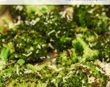 Healthy Side Dish-Garlic Roasted Broccoli, Quick and Easy! http://fantabulosity.com