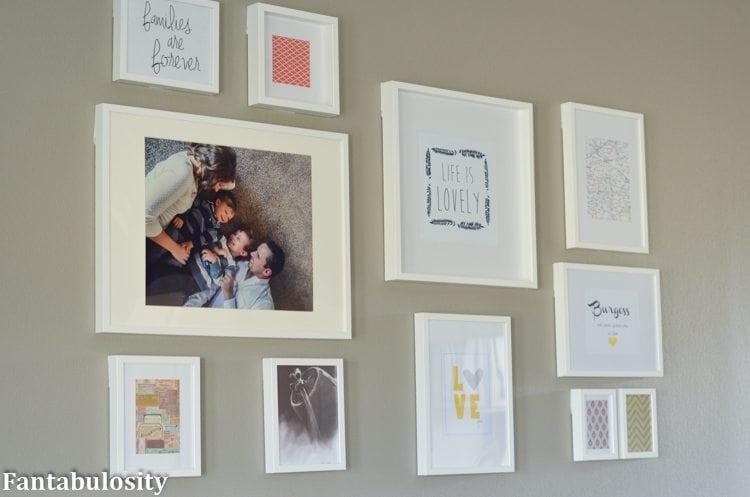 IKEA Frames Wall Gallery Idea https://fantabulosity.com