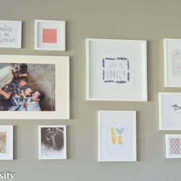 IKEA Frames Wall Gallery Idea https://fantabulosity.com