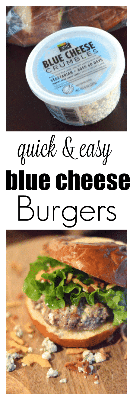 Mmmm! Burgers stuffed with blue cheese crumbles. A quick and easy blue cheese burgers recipe