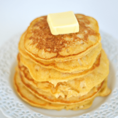 5 Minute Butternut Squash Pancakes http://fantabulosity.com
