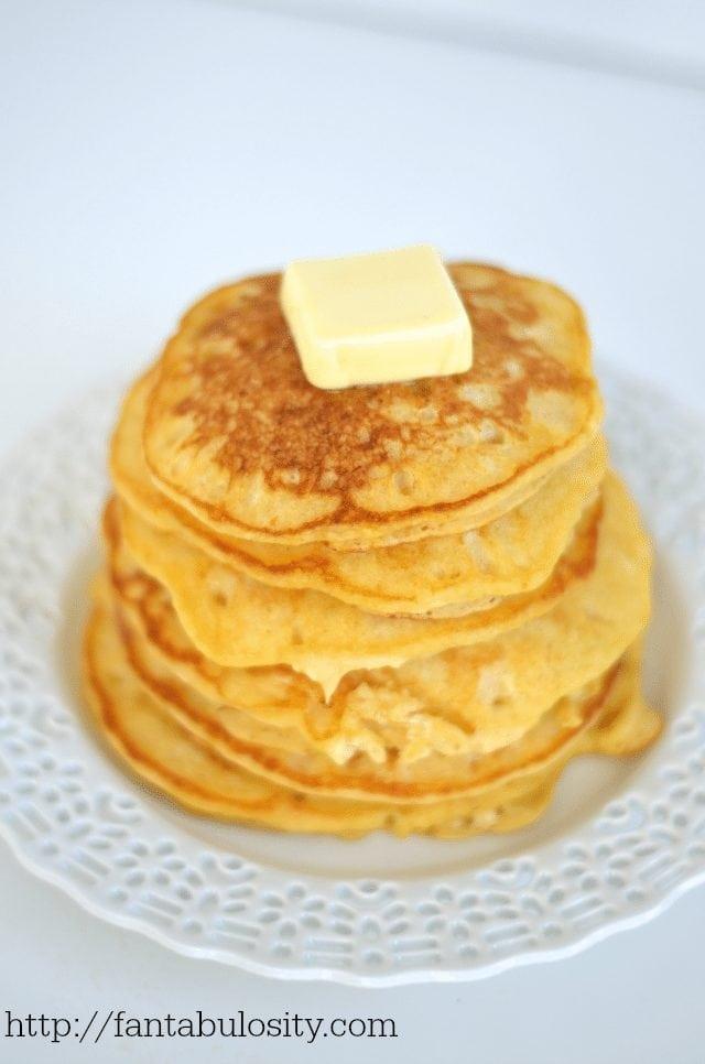 5 Minute Butternut Squash Pancakes https://fantabulosity.com