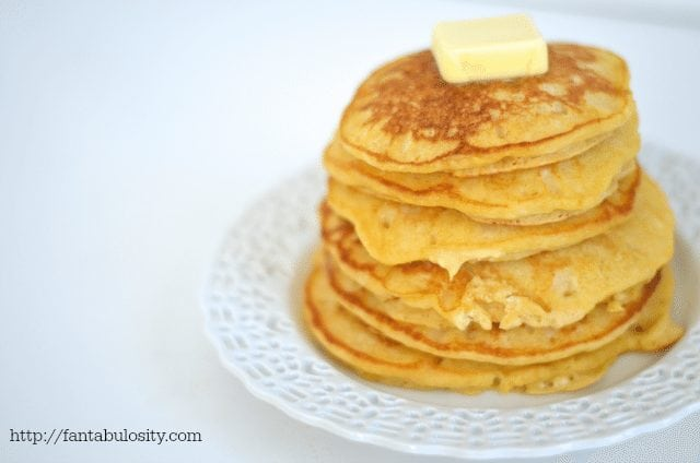 5 Minute Butternut Squash Pancakes http://fantabulosiity.com