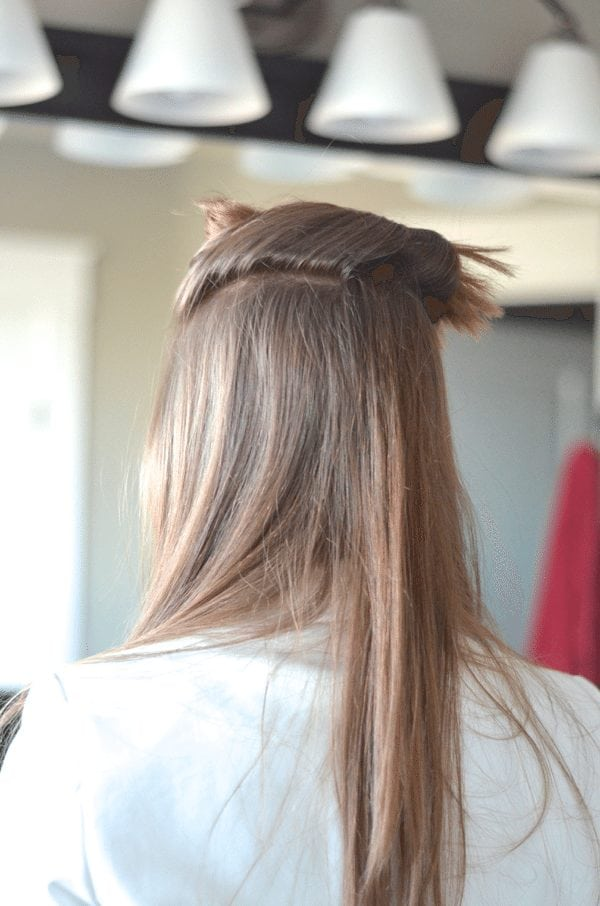 Clip Hair Up - how to get beach waves fantabulosity.com