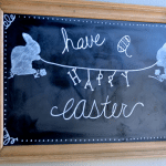 Easter Chalkboard Art Ideas – A Trick for Easy Drawing