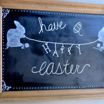 Easter Chalkboard Art Idea https://fantabulosity.com