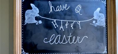 Easter Chalkboard Art Idea http://fantabulosity.com