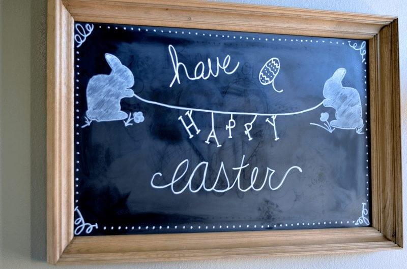 Easter Chalkboard Art Idea https://fantabulosity.com