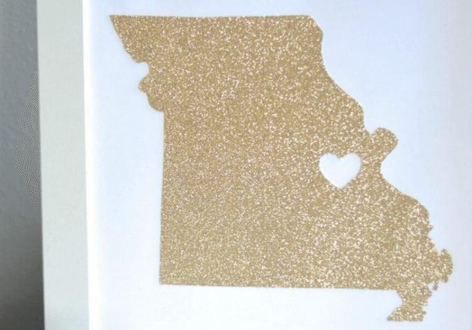 DIY State Art gift idea