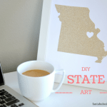 DIY State Art Gift Idea