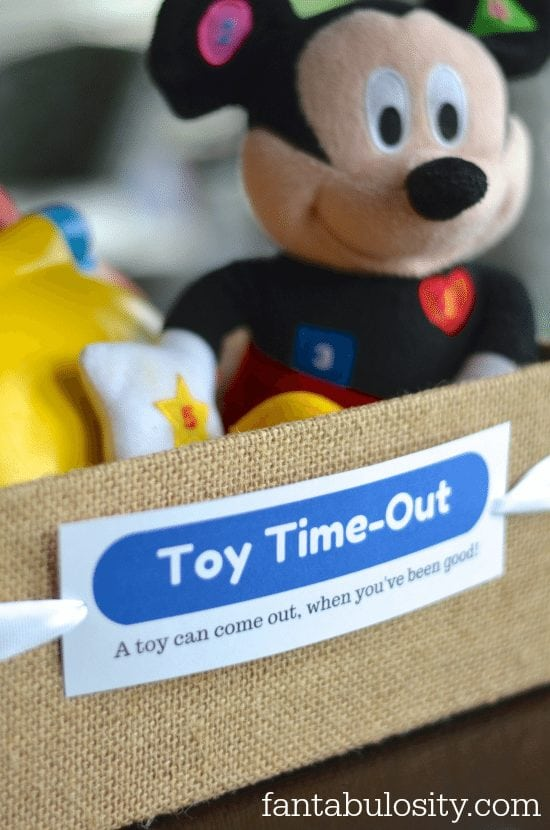 Toy Time-Out! Brilliant! Download this free printable too! I love this direction of parenting, with child discipline! https://fantabulosity.com