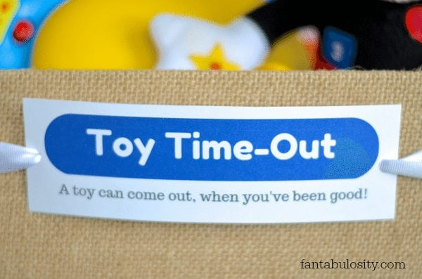 Toy Time-Out! Brilliant! I love this direction of parenting, with child discipline! https://fantabulosity.com
