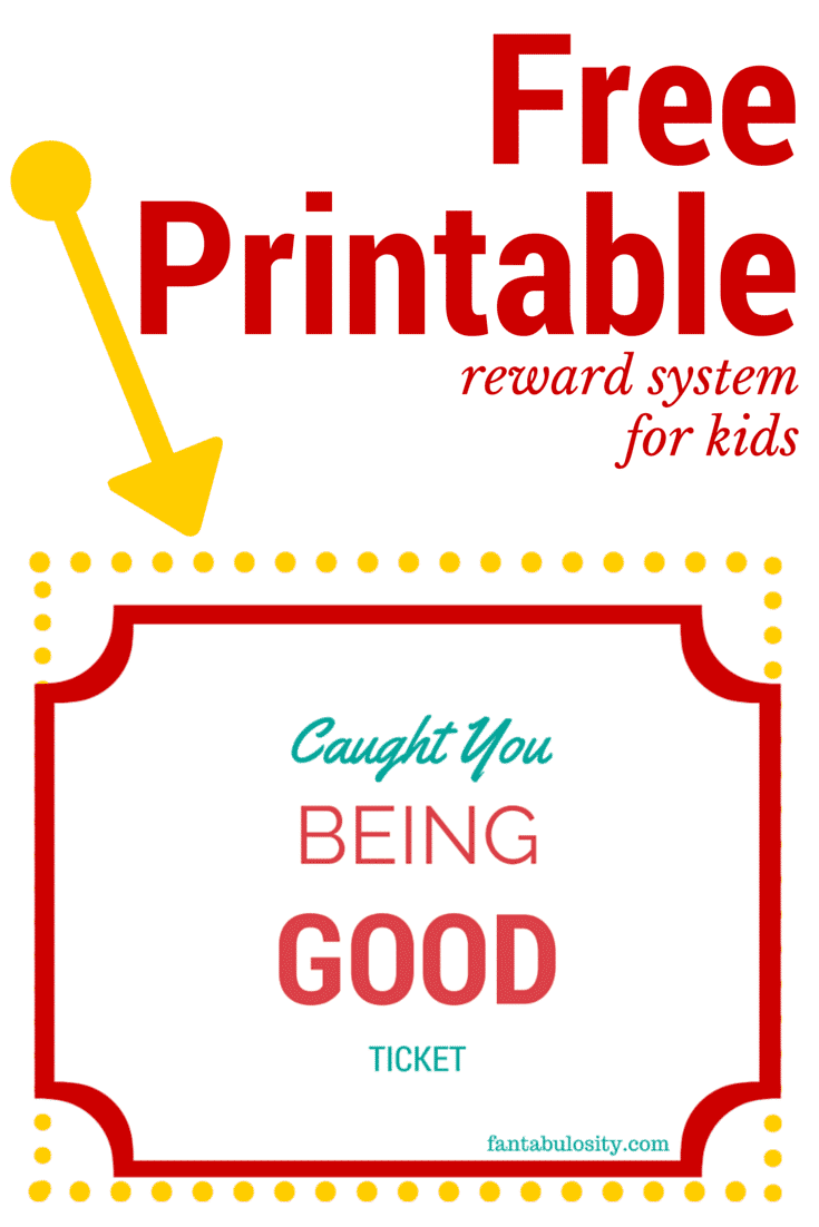 Caught you Being Good reward system for kids! Free printable! So ...