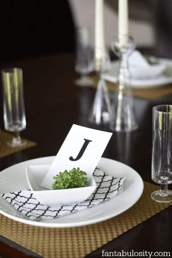 Dinner Party Table Setting https://fantabulosity.com