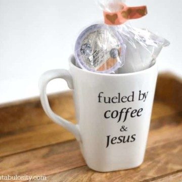 Fueled by coffee & Jesus Mug. This is sooo cute! https://fantabulosity.com