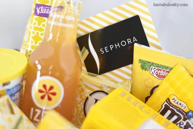 Hello Sunshine Gift Basket with gift card https://fantabulosity.com