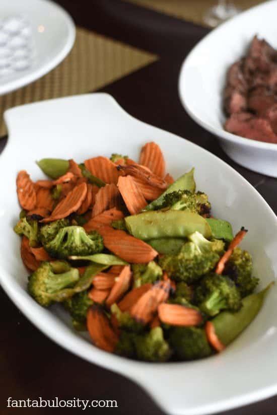 Mixed grilled veggies with Maggi Seasoning