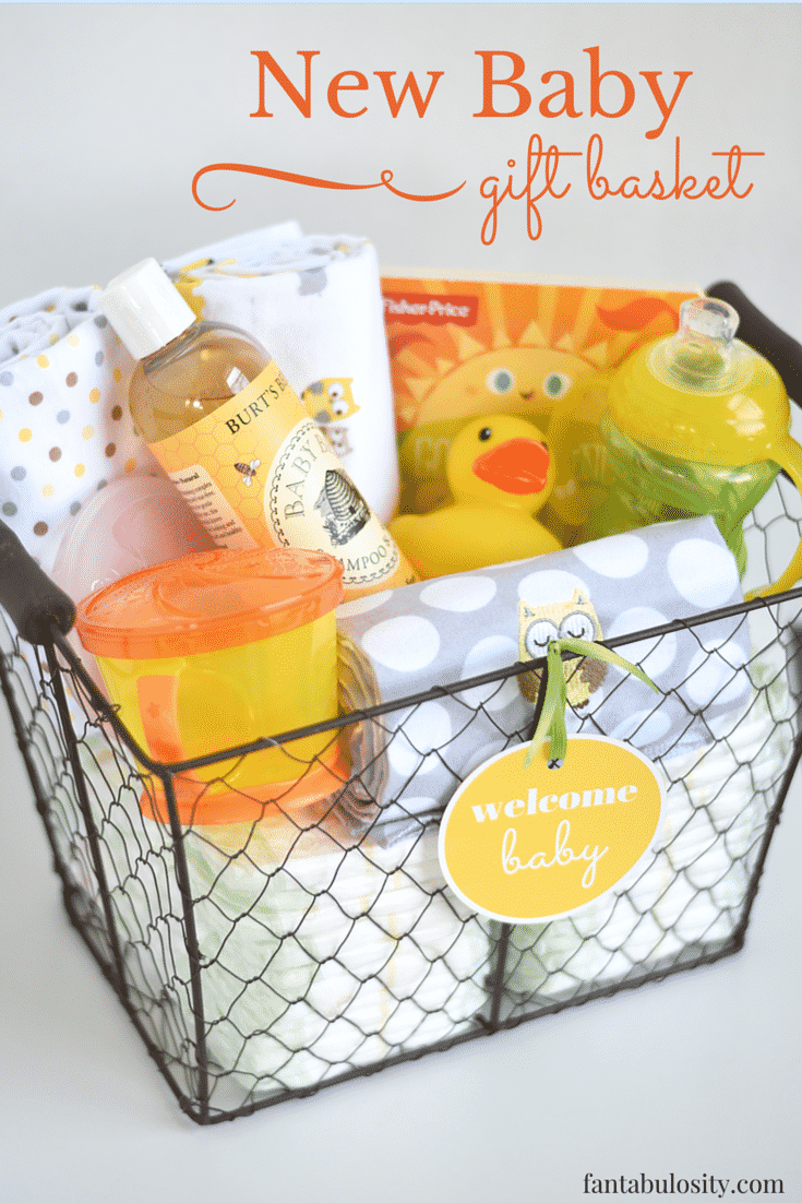 Baby Gift Basket Contents : Diy new baby gift basket idea and free printable