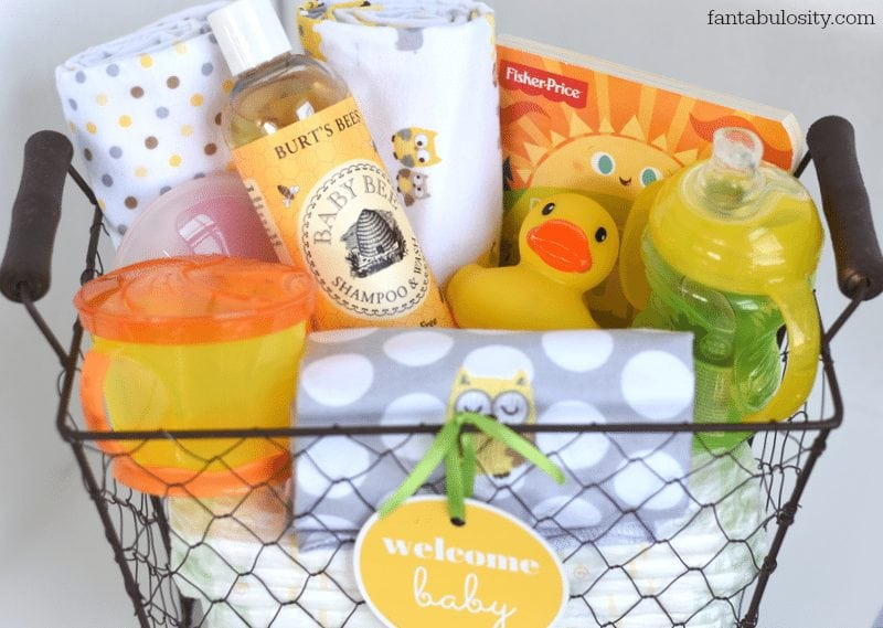 Diy New Baby Gift Basket Idea And Free Printable Fantabulosity