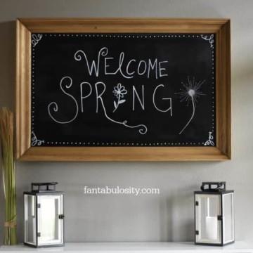 Spring Chalkboard Art Ideas https://fantabulosity.com