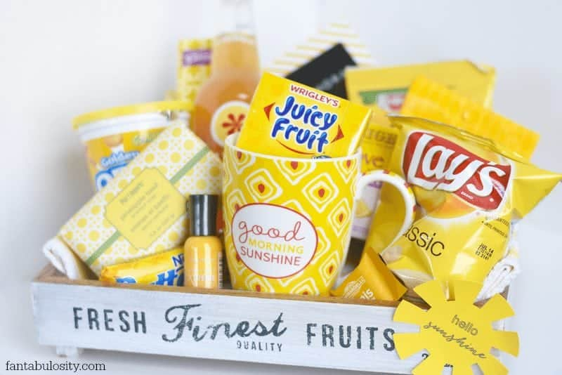Box Of Sunshine Gift Ideas Gift Baskets Of All Things Yellow Fantabulosity