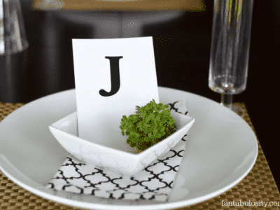 Table Setting Idea for Dinner Party http://fantabulosity.com