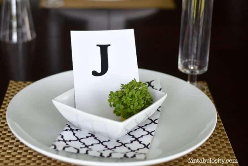 Table Setting Idea for Dinner Party https://fantabulosity.com