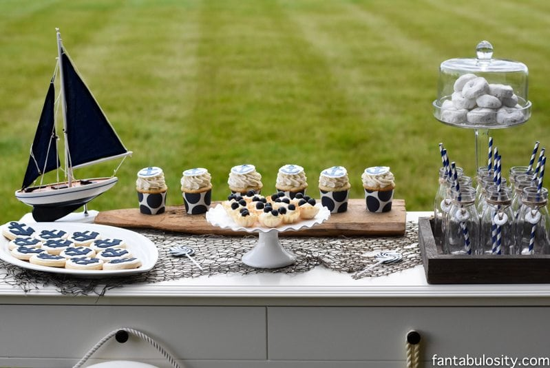 Nautical Birthday Party Ideas! Or a baby shower! http://fantabulosity.com