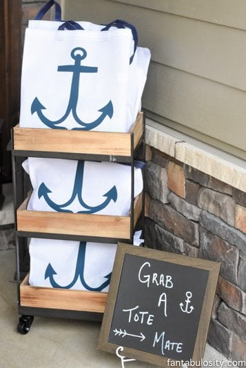 Nautical Birthday Party Ideas! Favor Ideas! Beach bag full of summer fun items! http://fantabulosity.com-51