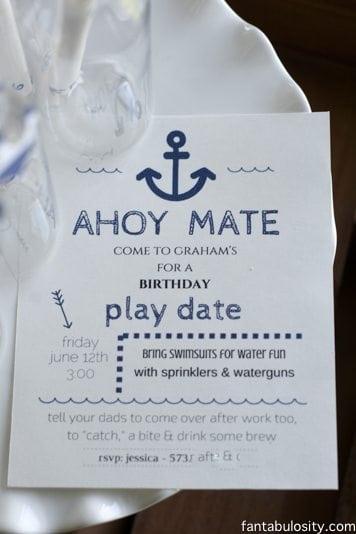 Nautical Birthday Party Invitation! http://fantabulosity.com