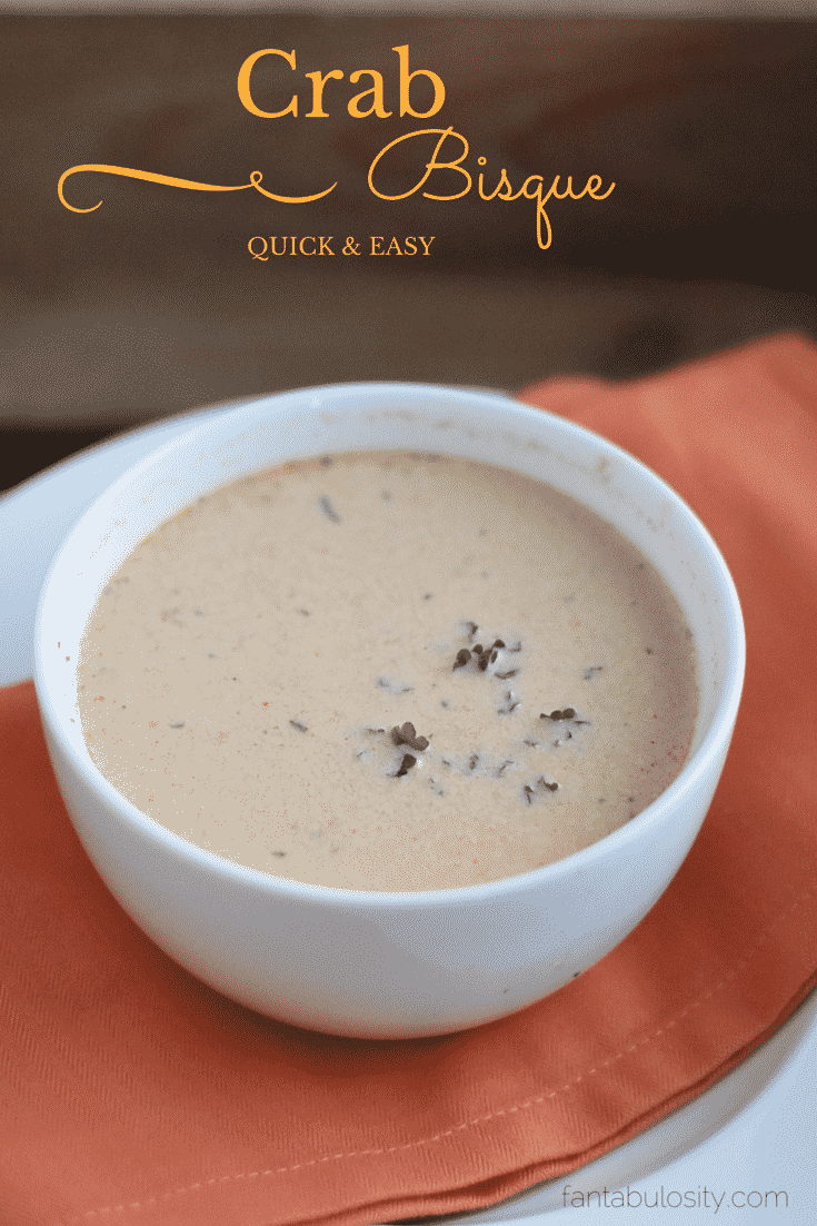 Easy Crab Bisque! Holy Moly this is good! https://fantabulosity.com