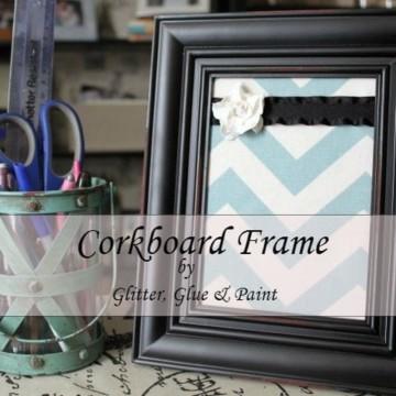 DIY Corkboard Frame https://fantabulosity.com