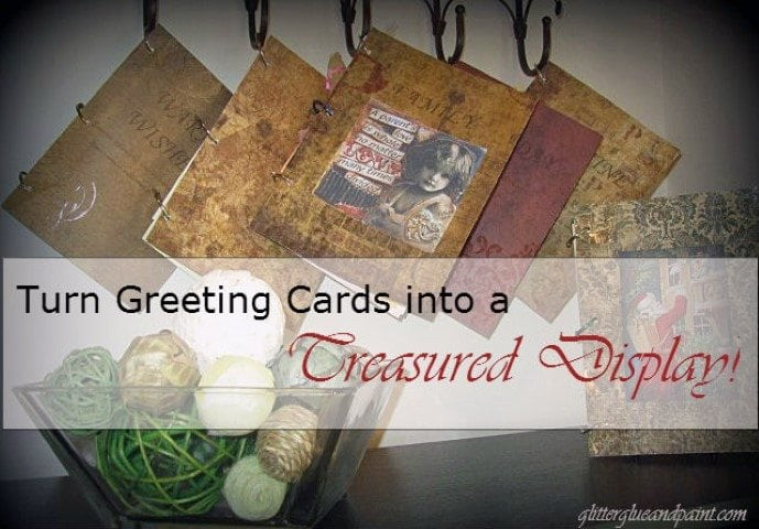 Turn Greeting Card in to a Display https://fantabulosity.com