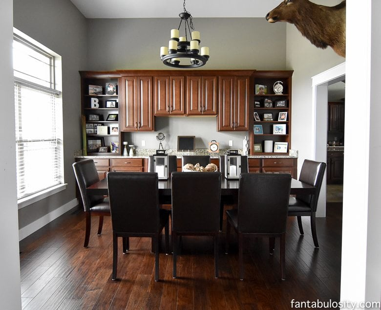 Craftsman Style Home Tour - The Dining Room and Foyer. Part 13 of this home tour! http://fantabulosity.com