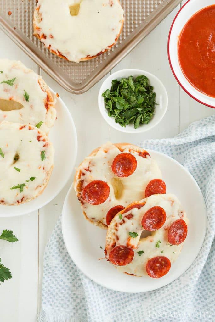 Bagel pizzas recipe
