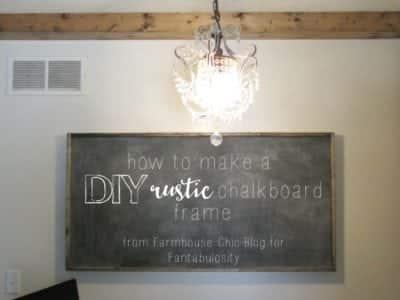 rustic chalkboard frame