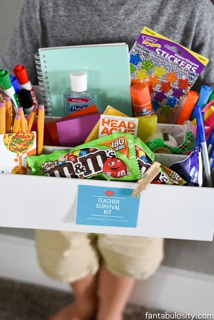 Teacher Survival Kit - Teacher Gift Idea https://fantabulosity.com